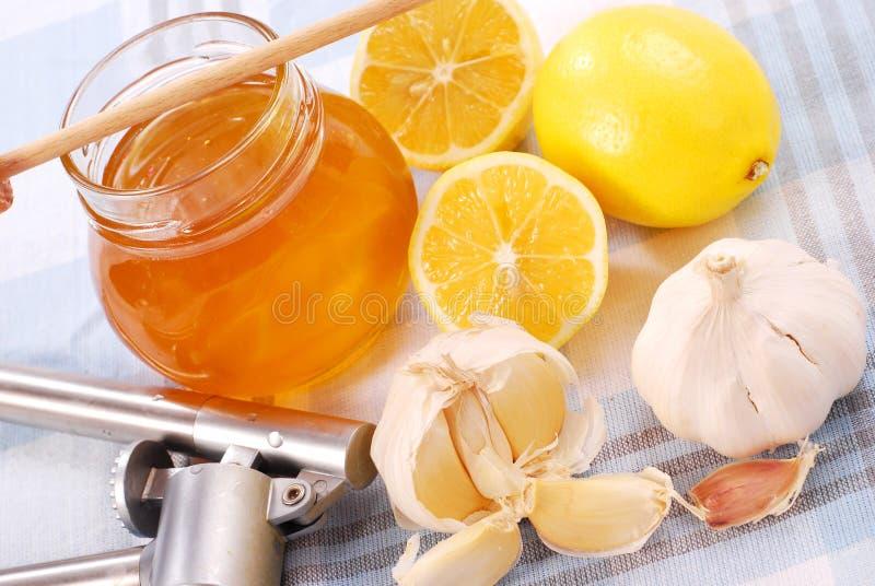 λεμόνι μελιού σκόρδου στοκ φωτογραφίες με δικαίωμα ελεύθερης χρήσης