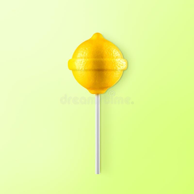 Λεμόνι Lollipop στοκ εικόνα με δικαίωμα ελεύθερης χρήσης