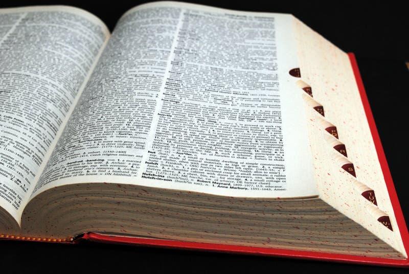 λεξικό στοκ φωτογραφίες