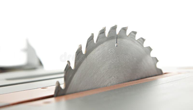Λεπίδα επιτραπέζιων πριονιών στοκ εικόνα