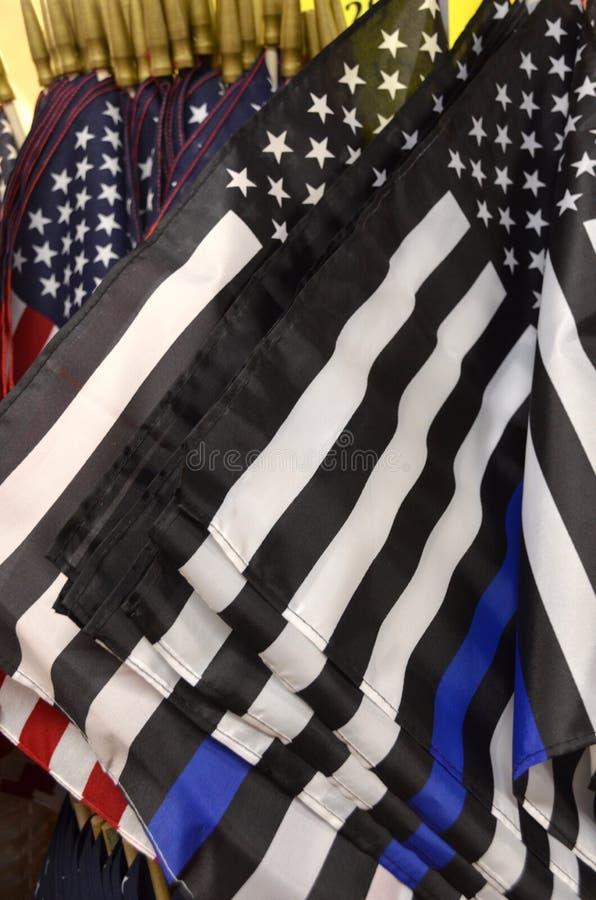 Λεπτές μπλε σημαίες γραμμών στοκ εικόνα