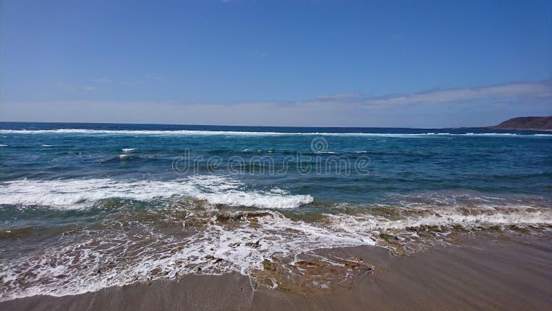 λεπτή χρυσή καλή κυματωγή θάλασσας πτώσης στοκ φωτογραφίες
