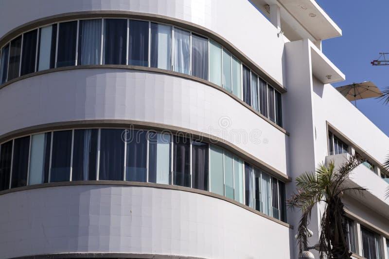 Λεπτομέρεια από την αρχιτεκτονική ύφους Bauhause στο Τελ Αβίβ στοκ φωτογραφία με δικαίωμα ελεύθερης χρήσης
