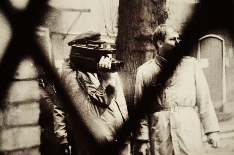 Λεπτομέρεια από τη φωτογραφική έκθεση στο μουσείο Stasi στοκ εικόνα με δικαίωμα ελεύθερης χρήσης