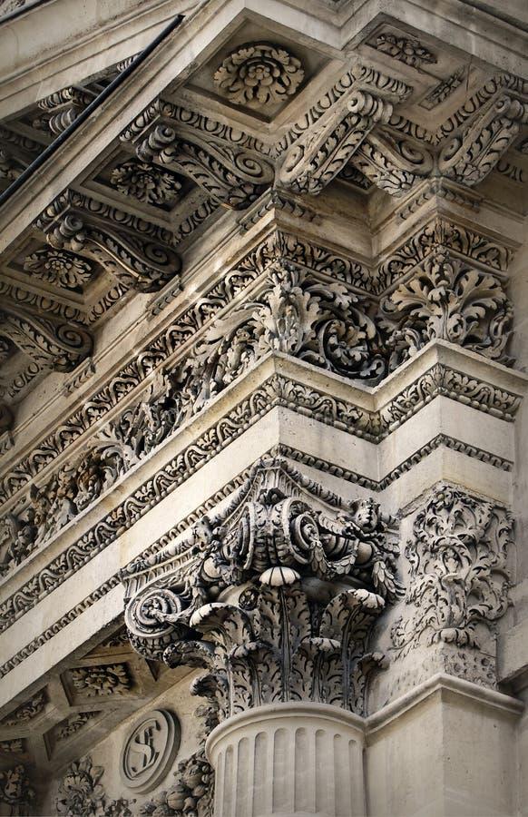 λεπτομέρεια αρχιτεκτονικής νεοκλασσική στοκ εικόνες