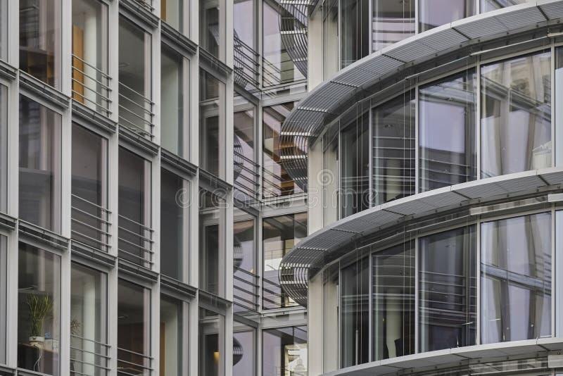 Λεπτομέρεια αρχιτεκτονικής των γραφείων Paul-Loebe Haus στοκ εικόνα με δικαίωμα ελεύθερης χρήσης