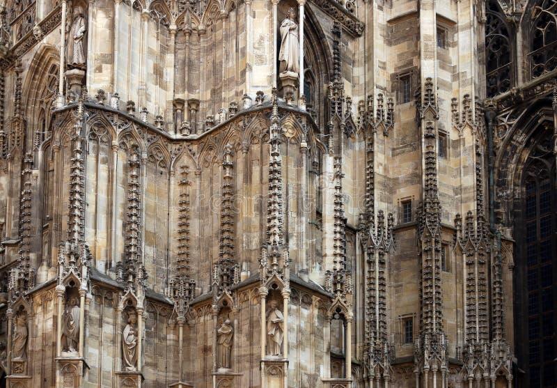 Λεπτομέρεια Βιέννη γλυπτών καθεδρικών ναών Αγίου Stephens στοκ εικόνα