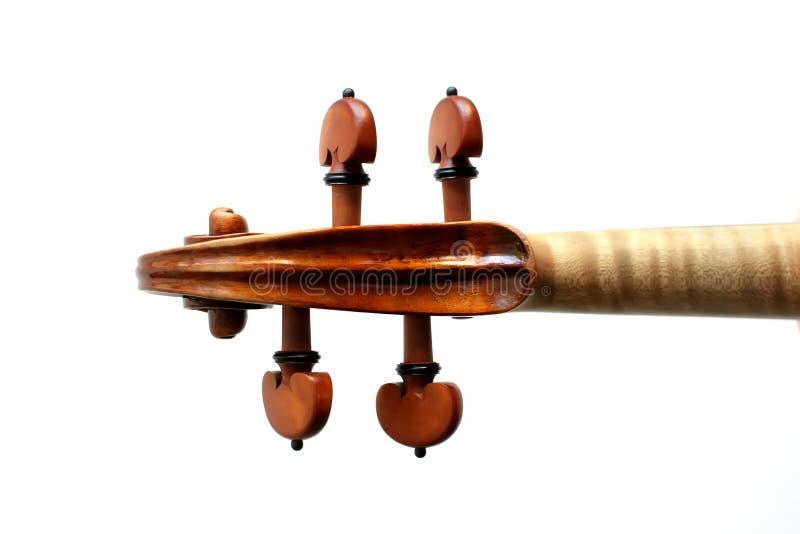 Λεπτομέρεια βιολιών στο άσπρο υπόβαθρο στοκ φωτογραφία με δικαίωμα ελεύθερης χρήσης