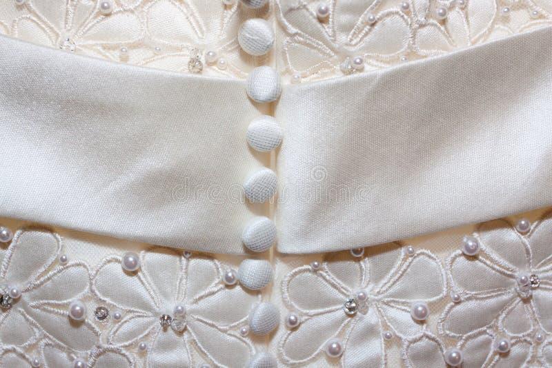 Λεπτομέρεια γαμήλιων φορεμάτων στοκ φωτογραφίες με δικαίωμα ελεύθερης χρήσης
