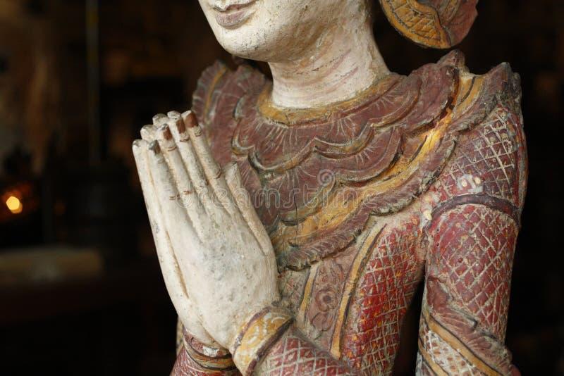 Λεπτομέρεια ενός αγάλματος του Βούδα στοκ φωτογραφία με δικαίωμα ελεύθερης χρήσης