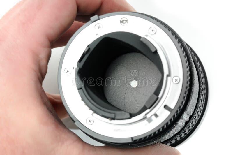 Λεπτομέρεια ενός ανοίγματος ενός φακού στοκ φωτογραφία με δικαίωμα ελεύθερης χρήσης