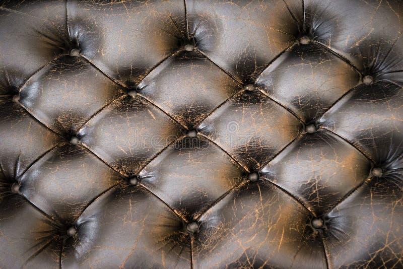 Λεπτομέρεια καναπέδων δέρματος στοκ εικόνα