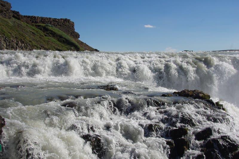 Λεπτομέρεια καταρρακτών της Ισλανδίας ` s πρώτος Gullfoss στοκ εικόνες