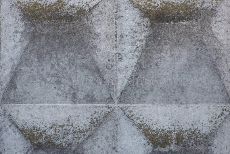 Λεπτομέρεια κινηματογραφήσεων σε πρώτο πλάνο του συγκεκριμένου φράκτη με τη γεωμετρική ανακούφιση Η γκρίζα περίληψη grunge γέρασε στοκ φωτογραφία με δικαίωμα ελεύθερης χρήσης