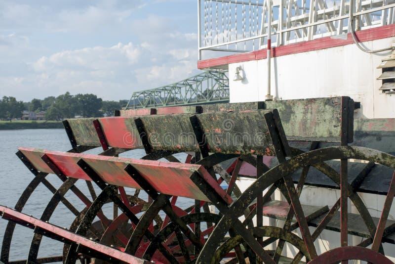 Λεπτομέρεια κουπιών Sternwheel στοκ εικόνα