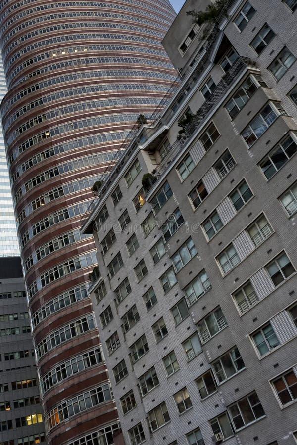 Λεπτομέρεια κτηρίων της Νέας Υόρκης Μανχάτταν στοκ φωτογραφία