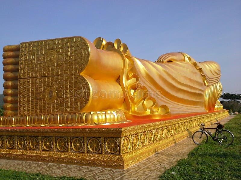Λεπτομέρεια μεγάλου Bhuddha σε Songkhla, Ταϊλάνδη στοκ φωτογραφία