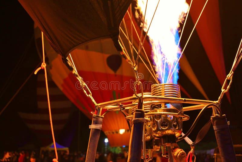 Λεπτομέρεια μπαλονιών & καυστήρων ζεστού αέρα σε μια ετήσια πυράκτωση μπαλονιών στην Αριζόνα στοκ εικόνες