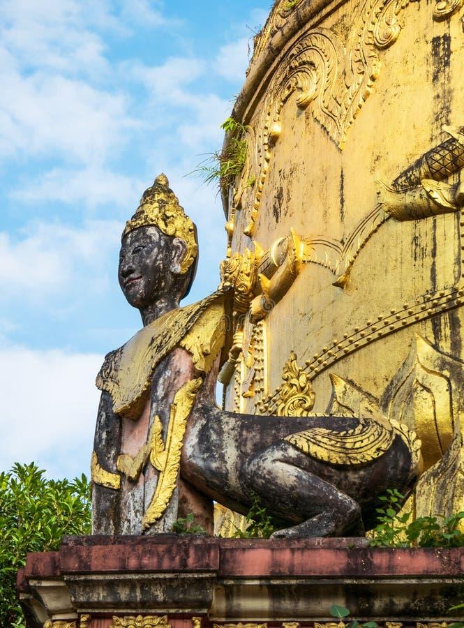 Λεπτομέρεια ναών σε Yangon, το Μιανμάρ στοκ φωτογραφίες με δικαίωμα ελεύθερης χρήσης