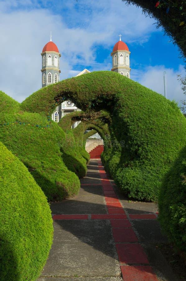 Λεπτομέρεια πάρκων Zarcero στοκ φωτογραφίες