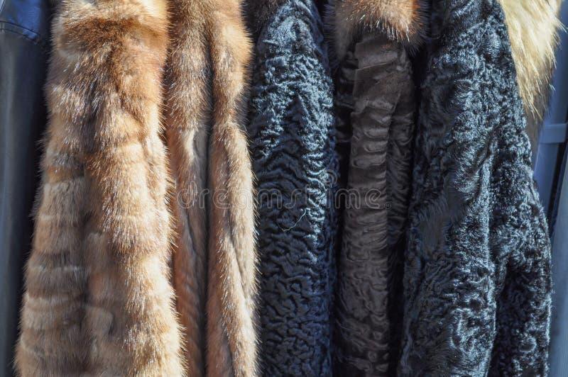 Λεπτομέρεια παλτών γουνών στοκ φωτογραφία με δικαίωμα ελεύθερης χρήσης