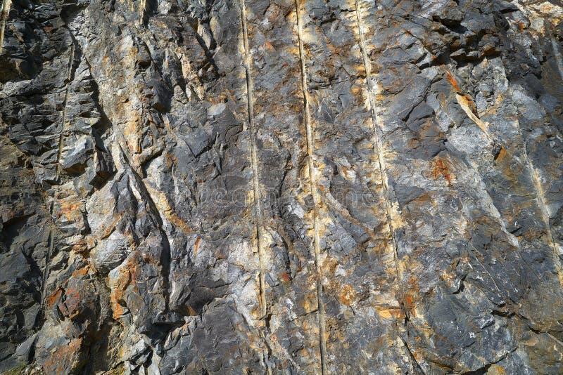 Λεπτομέρεια πετρών πλακών στα Πυρηναία στοκ εικόνες