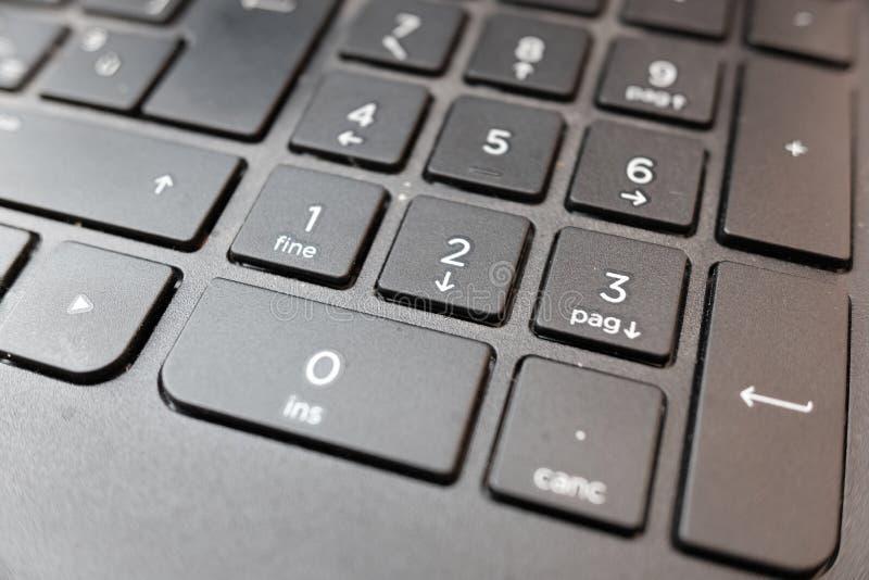 Λεπτομέρεια πληκτρολογίων του lap-top στοκ φωτογραφίες με δικαίωμα ελεύθερης χρήσης