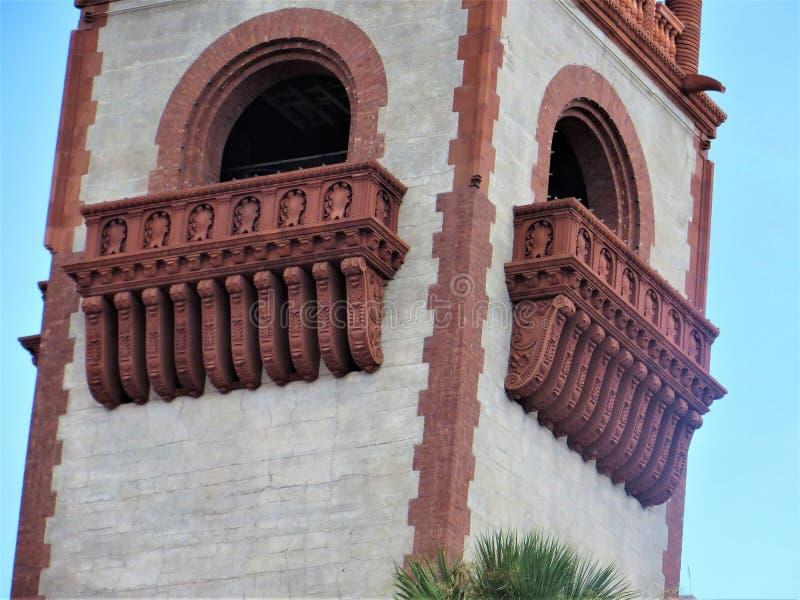 Λεπτομέρεια πύργων, μουσείο Lightner, Φλώριδα στοκ φωτογραφίες
