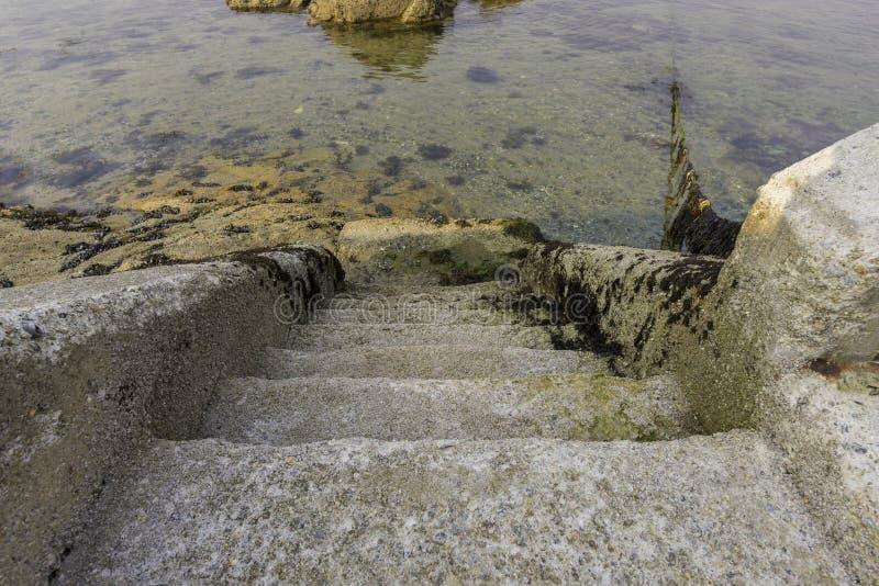 Λεπτομέρεια στα σκαλοπάτια πετρών στοκ εικόνες