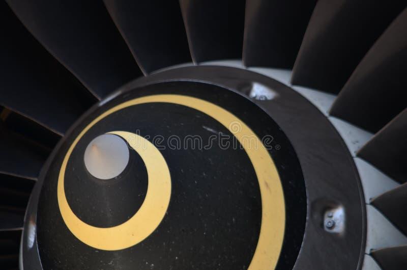 Λεπτομέρεια στροβίλων αεροσκαφών Σύστημα ανεμιστήρων και κώνων στοκ εικόνες με δικαίωμα ελεύθερης χρήσης