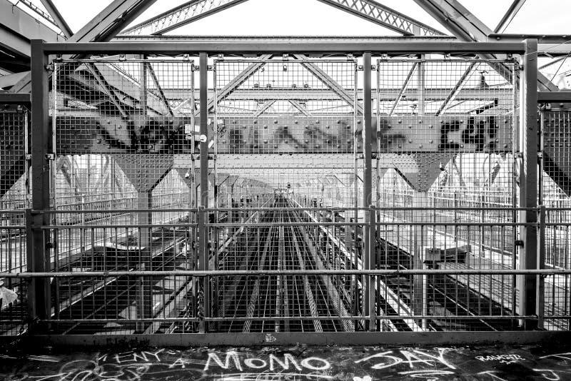 Λεπτομέρεια της γέφυρας Wiliamsburg, Νέα Υόρκη στοκ εικόνα