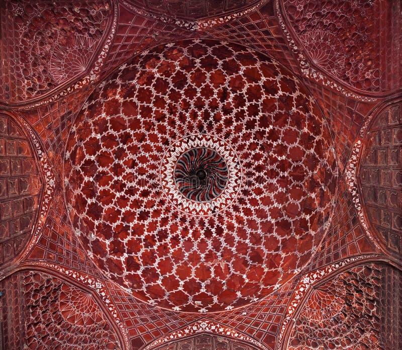 Λεπτομέρεια της διακόσμησης του Taj Mahal στοκ φωτογραφία