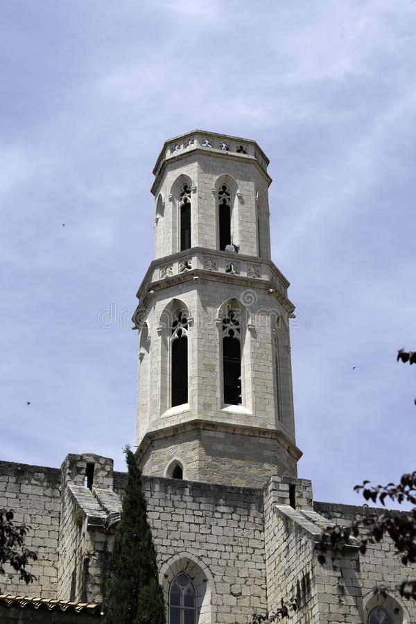 Λεπτομέρεια της εκκλησίας Αγίου Peter Figueres, Ισπανία στοκ φωτογραφίες