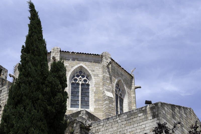 Λεπτομέρεια της εκκλησίας Αγίου Peter Figueres, Ισπανία στοκ φωτογραφία με δικαίωμα ελεύθερης χρήσης