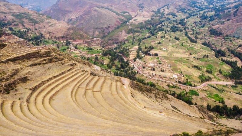 Λεπτομέρεια της θέσης αρχαιολόγων Pisac στην ιερή κοιλάδα του Incas στο Περού στοκ φωτογραφία με δικαίωμα ελεύθερης χρήσης