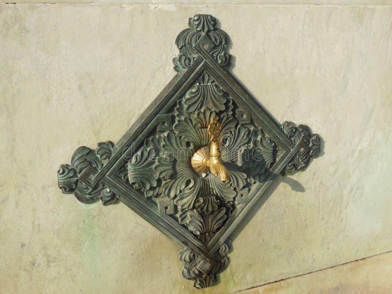 Λεπτομέρεια της ιστορικής πηγής στη Ιστανμπούλ, πηγή Kaiser Wilhelm στοκ εικόνες