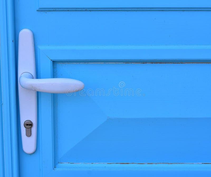 Λεπτομέρεια της μπλε πόρτας στοκ εικόνα