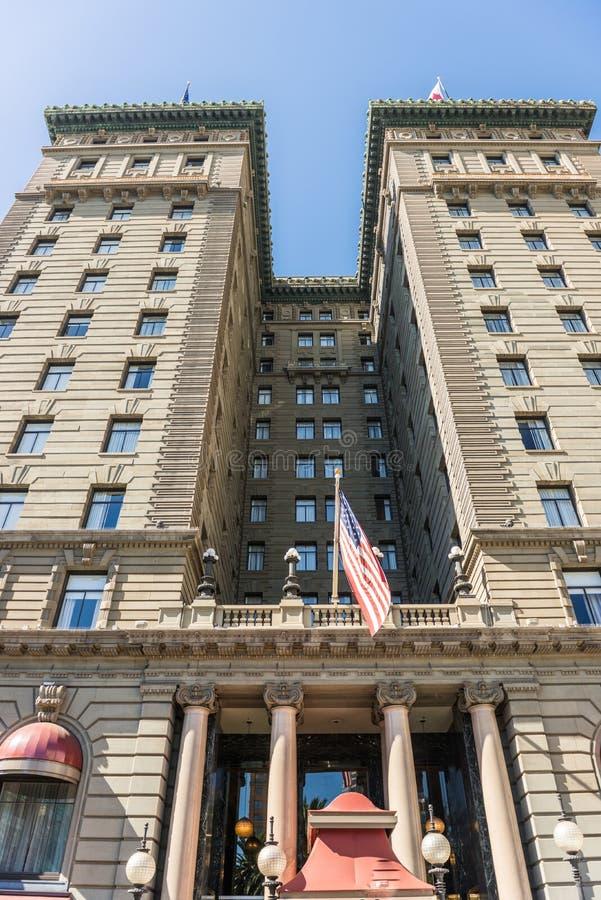 Λεπτομέρεια της πρόσοψης του ξενοδοχείου Westin ST Francis στο τετράγωνο ένωσης στο Σαν Φρανσίσκο, Καλιφόρνια, ΗΠΑ στοκ φωτογραφία