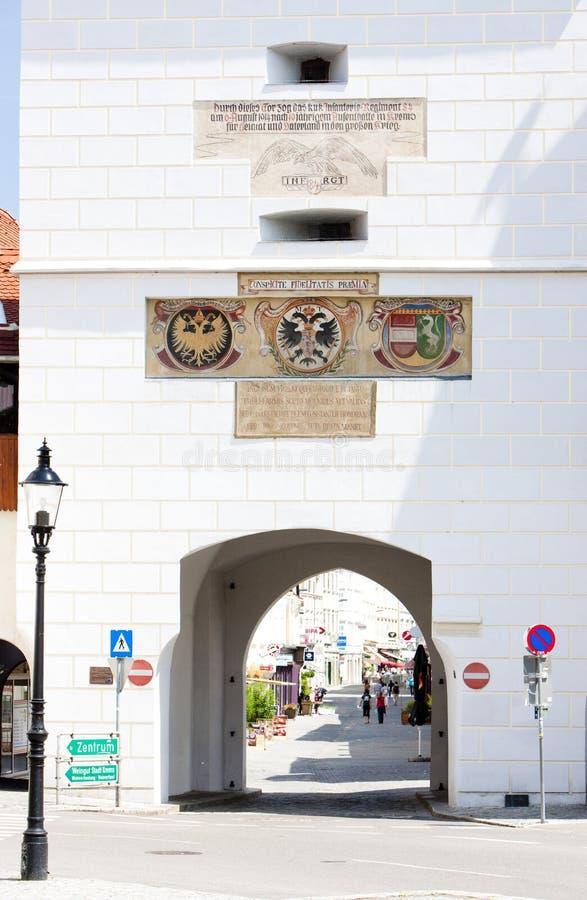 λεπτομέρεια της πόλης πύλης, Krems, χαμηλότερη Αυστρία, Αυστρία στοκ φωτογραφίες