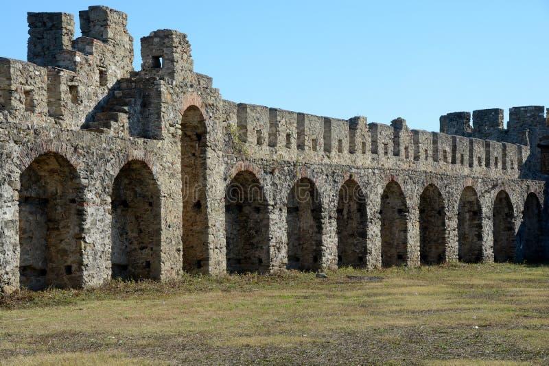 Λεπτομέρεια του αρχαίου φρουρίου Bashtova στοκ φωτογραφία