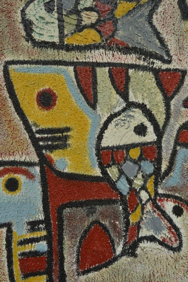 Λεπτομέρεια του αφηρημένου έργου τέχνης που χρωματίζεται στην τοιχογραφία ή τα γκράφιτι στοκ φωτογραφία με δικαίωμα ελεύθερης χρήσης