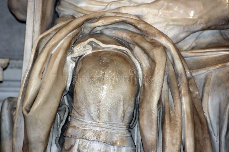 Λεπτομέρεια του γλυπτού Μωυσής από Michelangelo στο SAN Pietro σε Vincoli, Ρώμη στοκ εικόνα