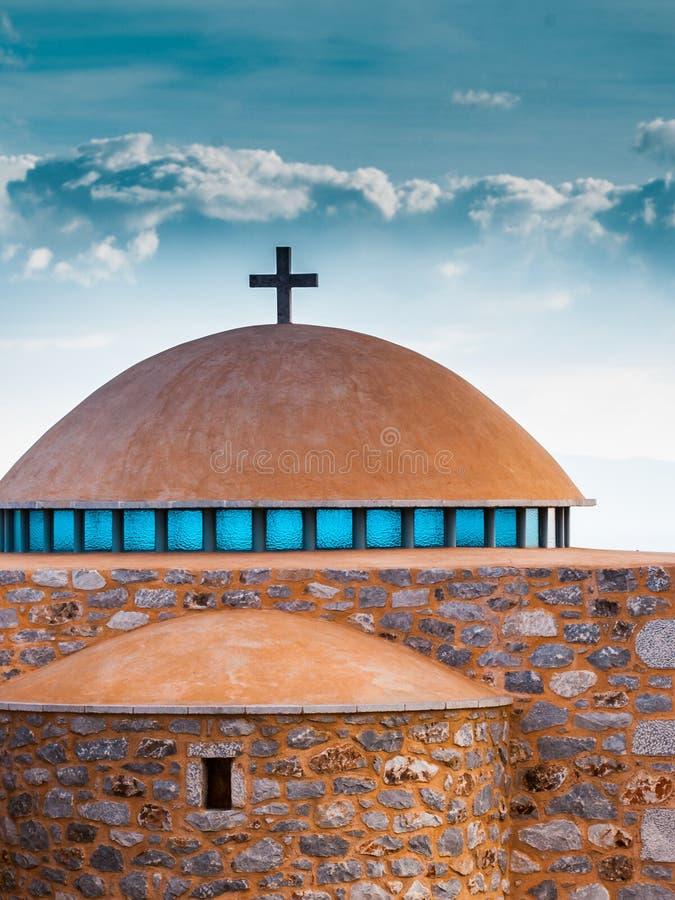 Λεπτομέρεια του θόλου παρεκκλησιών αρχιτεκτονικής, Ελλάδα στοκ φωτογραφία