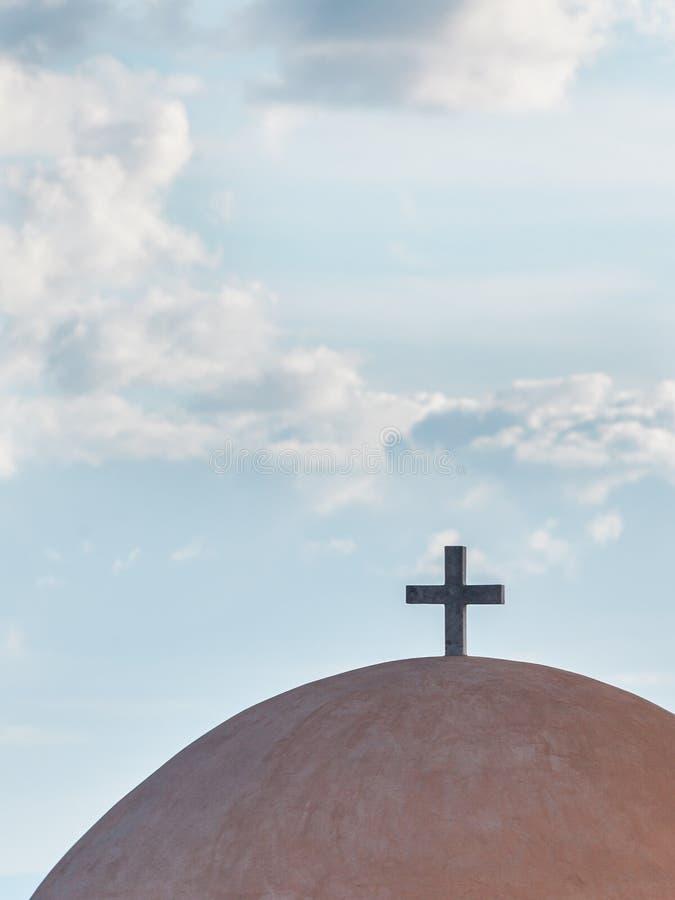 Λεπτομέρεια του θόλου παρεκκλησιών αρχιτεκτονικής, Ελλάδα στοκ φωτογραφίες
