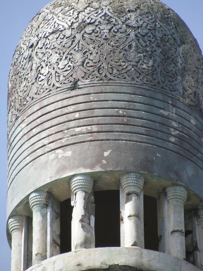 Λεπτομέρεια του ιστορικού κτηρίου στο μαυριτανικό ύφος απεικόνιση αποθεμάτων