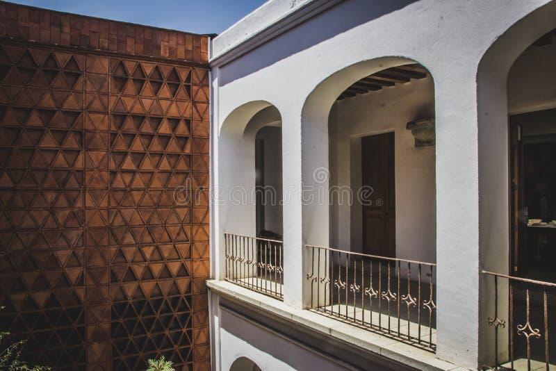 Λεπτομέρεια του μουσείου Museo textil de Oaxaca Textile Oaxaca Mexic στοκ εικόνα