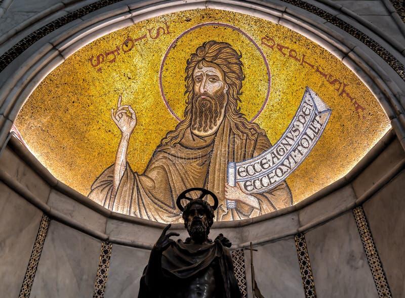 Λεπτομέρεια του μωσαϊκού μέσα στον καθεδρικό ναό Monreale στοκ εικόνα με δικαίωμα ελεύθερης χρήσης