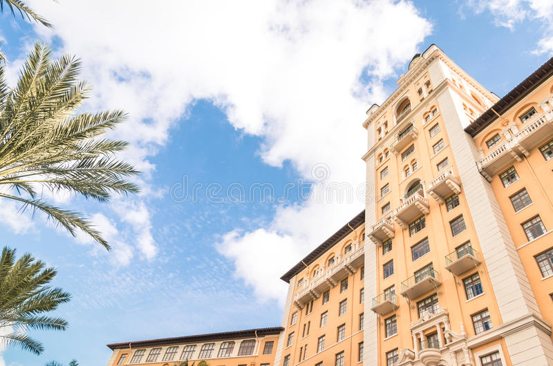 Λεπτομέρεια του παγκοσμίως διάσημου ξενοδοχείου Biltmore στο Μαϊάμι στοκ εικόνα με δικαίωμα ελεύθερης χρήσης