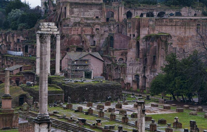 Λεπτομέρεια του ρωμαϊκού φόρουμ στη Ρώμη, Ιταλία στοκ φωτογραφία με δικαίωμα ελεύθερης χρήσης