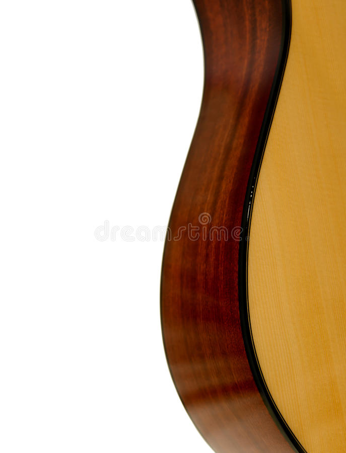 Λεπτομέρεια του σώματος της κιθάρας στοκ εικόνες με δικαίωμα ελεύθερης χρήσης